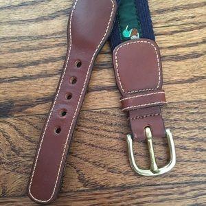 Brooks Brothers Mallard Canvas Cloth Belt Size 36